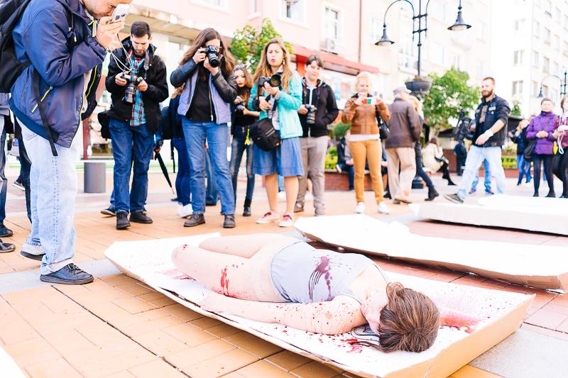 Протест Месото е Убийство в София 8 май 2016