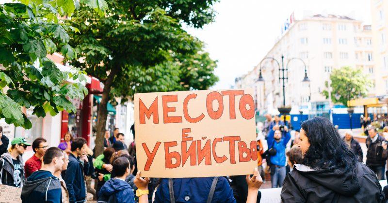 Протест в защита на правата на животни в София.