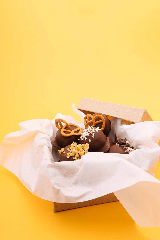 Веган бонбоните с фъстъчено масло и шоколад изчезнаха скоро след тази снимка